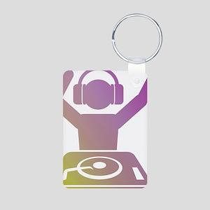 Colorful DJ Aluminum Photo Keychain