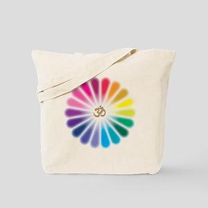 Om Rainbow Flower Tote Bag