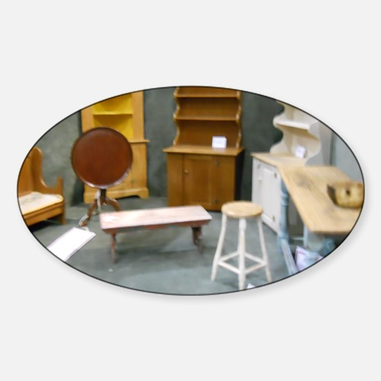 China Cabinets For Dollhouse Sticker (Oval)