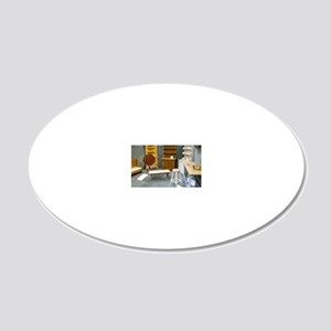 China Cabinets For Dollhouse 20x12 Oval Wall Decal