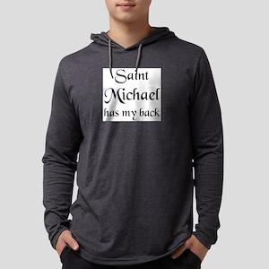 saint michael Mens Hooded Shirt