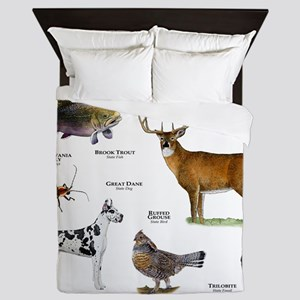 Pennsylvania State Animals Queen Duvet