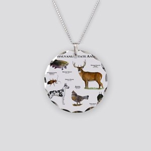 Pennsylvania State Animals Necklace Circle Charm