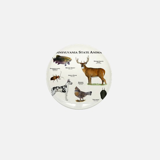 Pennsylvania State Animals Mini Button