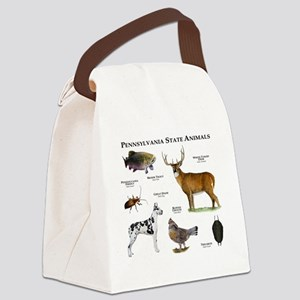 Pennsylvania State Animals Canvas Lunch Bag