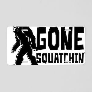 Gone Squatchin' Aluminum License Plate