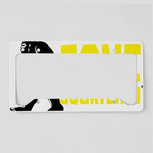 Gone Squatchin' License Plate Holder
