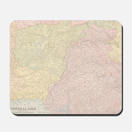 Vintage Central Asia Map Mousepad