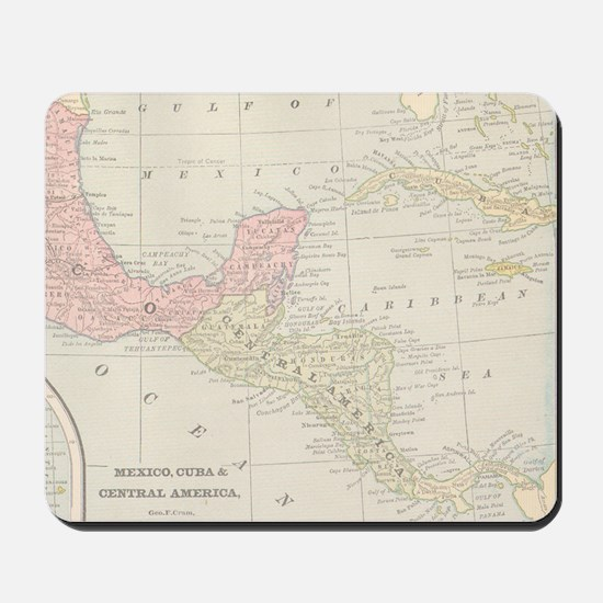Vintage Central America Map Mousepad
