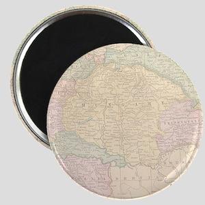 Vintage Austria Map Magnet