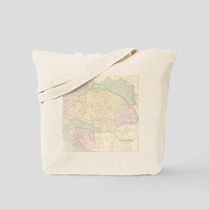 Vintage Austria Map Tote Bag