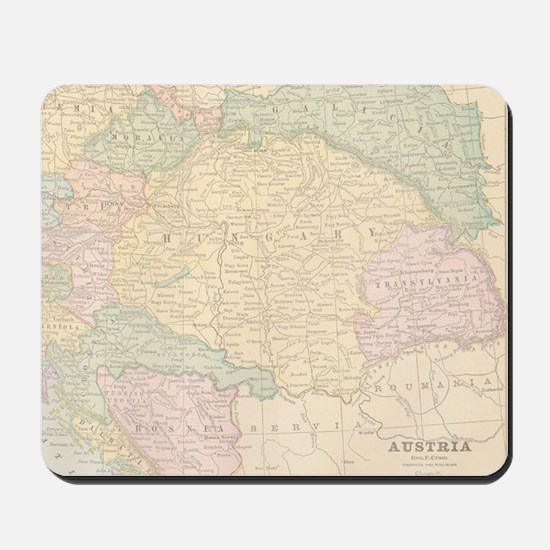 Vintage Austria Map Mousepad