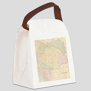 Vintage Austria Map Canvas Lunch Bag