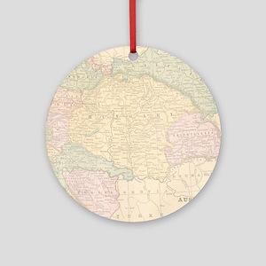 Vintage Austria Map Round Ornament