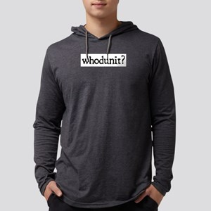 whodunit Mens Hooded Shirt