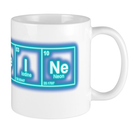 Oval - CaFFeINe - Blue Glow Mug