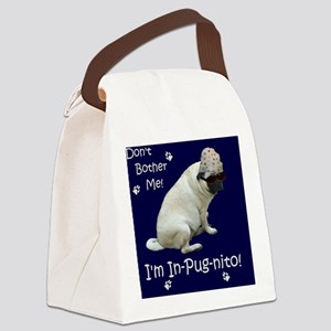 Funny In-Pug-nito! Pug Dog Canvas Lunch Bag