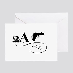 Oval - 2 A - Whiteout w Pistol Greeting Card