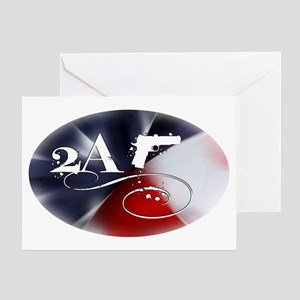 Oval - 2A - Flag Spectrum Greeting Card