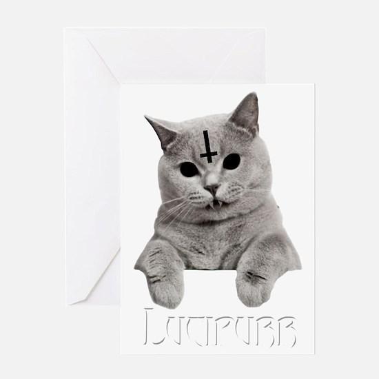 LUCIPURR Greeting Card