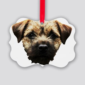 Border Terrier Picture Ornament