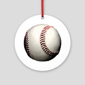 Baseball Ball Major League Team Round Ornament