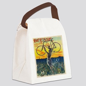 Vintage Paris Fairy Bicycle Canvas Lunch Bag