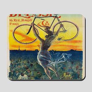 Vintage Paris Fairy Bicycle Mousepad
