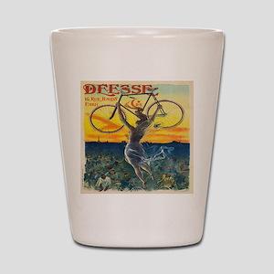 Vintage Paris Fairy Bicycle Shot Glass