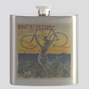 Vintage Paris Fairy Bicycle Flask