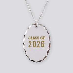 Class Of 2026 (Grunge-b) Necklace Oval Charm