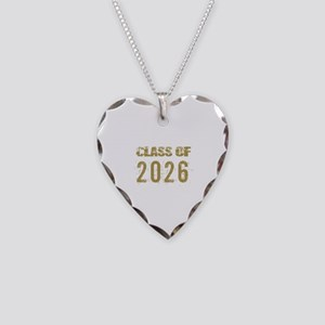 Class Of 2026 (Grunge-b) Necklace Heart Charm