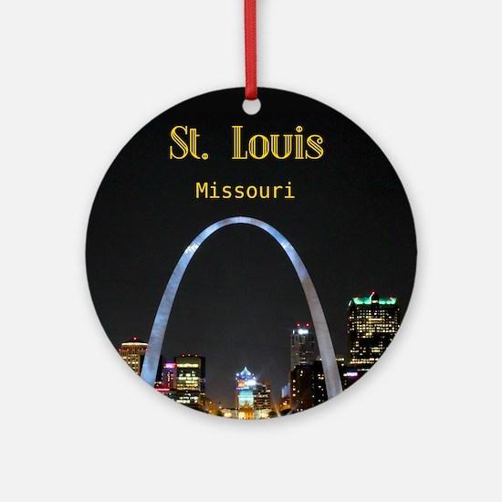 StLouis_6.90x9.10_iPad Round Ornament
