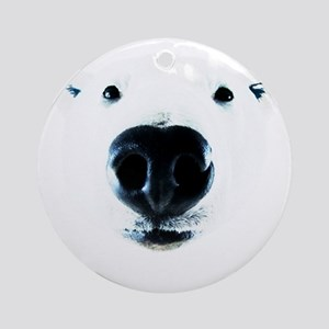 Polar Near Sniff Round Ornament