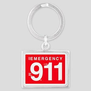 EMT Paramedic 911 Humor Landscape Keychain