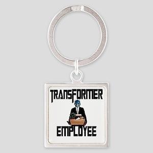 Transformer Employee Square Keychain