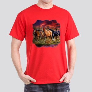 Sunset Horses Dark T-Shirt