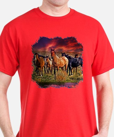 Sunset Horses T-Shirt