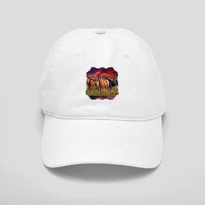 Sunset Horses Cap