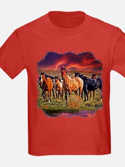 Sunset Horses T