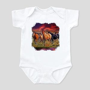 Sunset Horses Infant Bodysuit