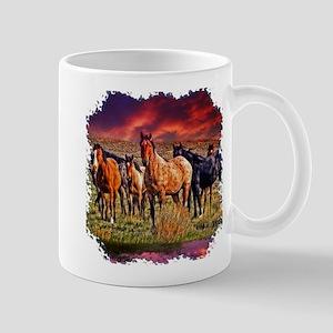 Sunset Horses Mug