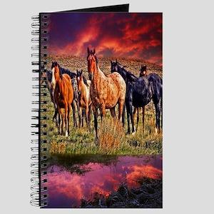 Sunset Horses Journal
