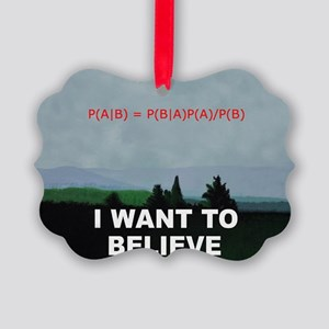 I want to Believe Bayesian Picture Ornament