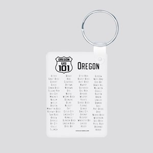 US Route 101 - Oregon citi Aluminum Photo Keychain