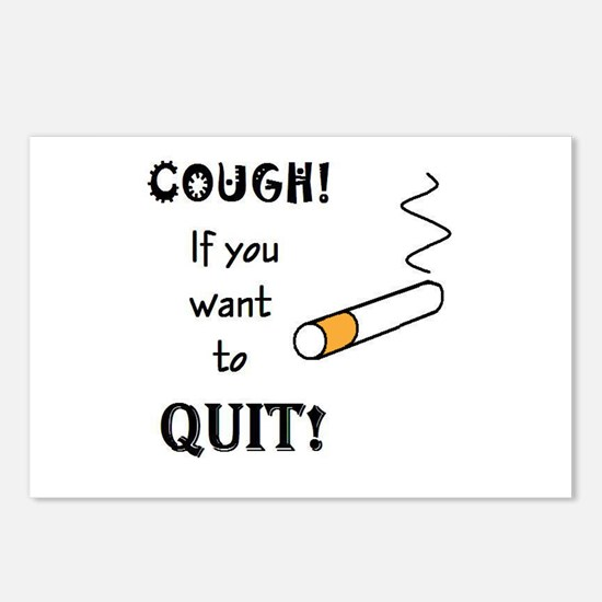 COUGH IF YOU WANT TO QUIT SMO Postcards (Package o