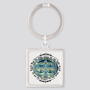 Medal of St Benedict Square Keychain