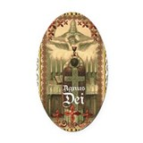 Latin mass catholic Oval Car Magnets