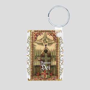 Agnus Dei Blood in the Cha Aluminum Photo Keychain
