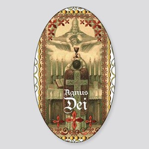 Agnus Dei Blood in the Chalice Sticker (Oval)